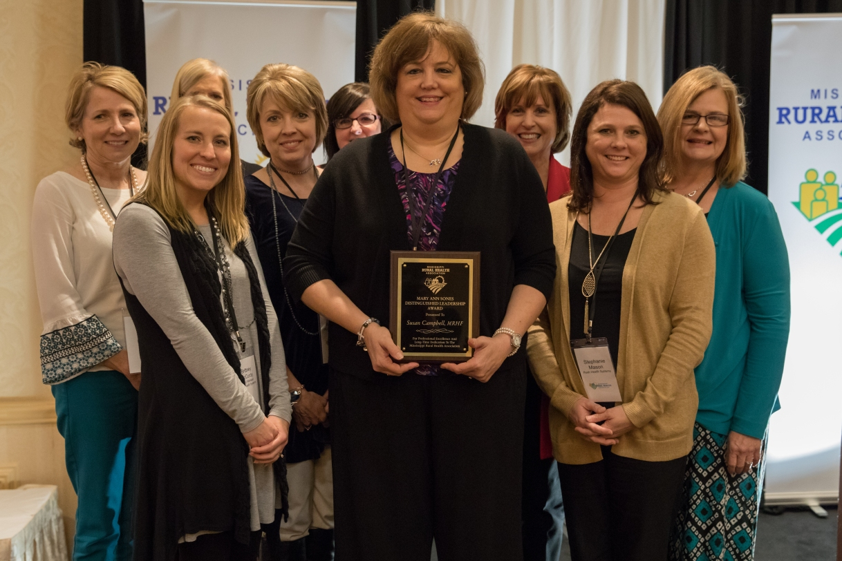Susan Campbell Recognized with MRHA Distinguished Leadership Award